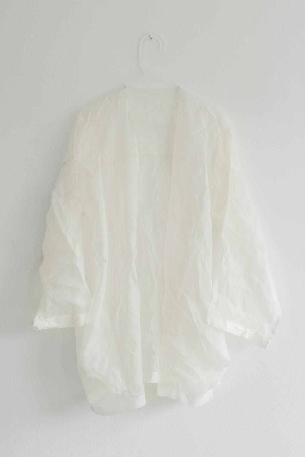 Kristin Dickson-Okuda White silk organza with plexi hanger