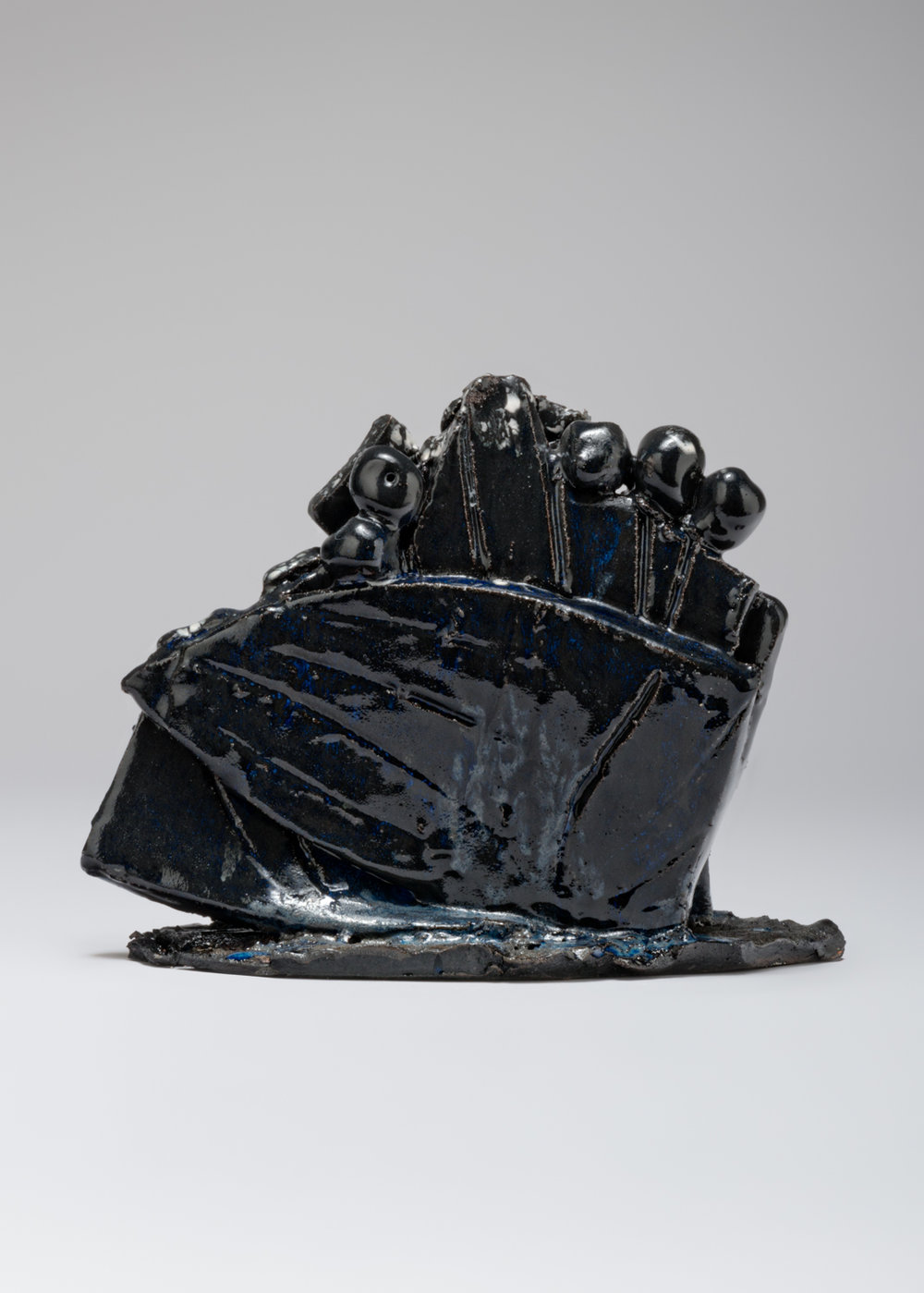 William J. O'Brien  Untitled  2017 Glazed ceramic 8 ¾h x 11 ½w x 4d in WOB1209