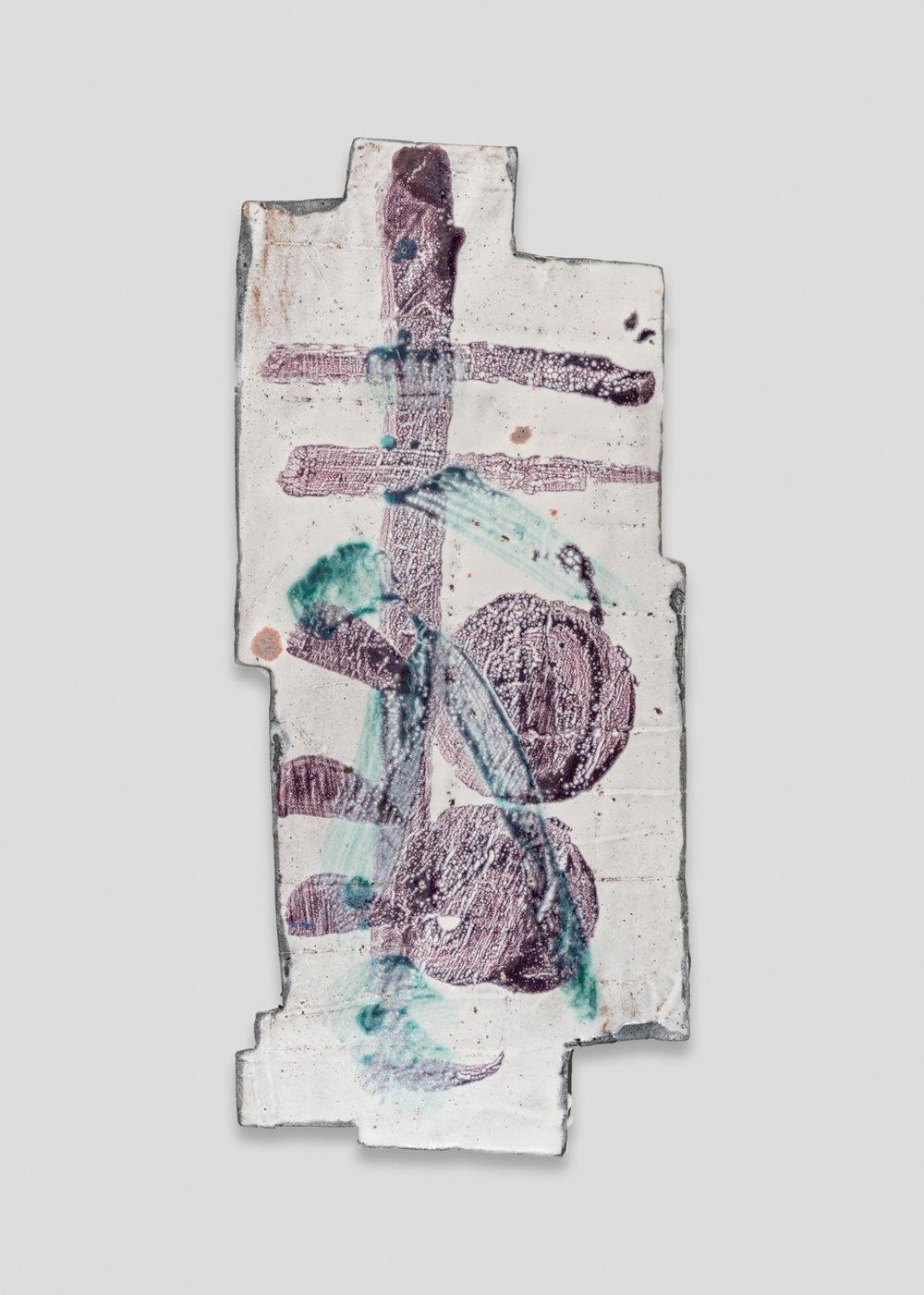 William J.O'Brien  Untitled  2017 Glazed ceramic 20h x 9w x 2d in WOB1233