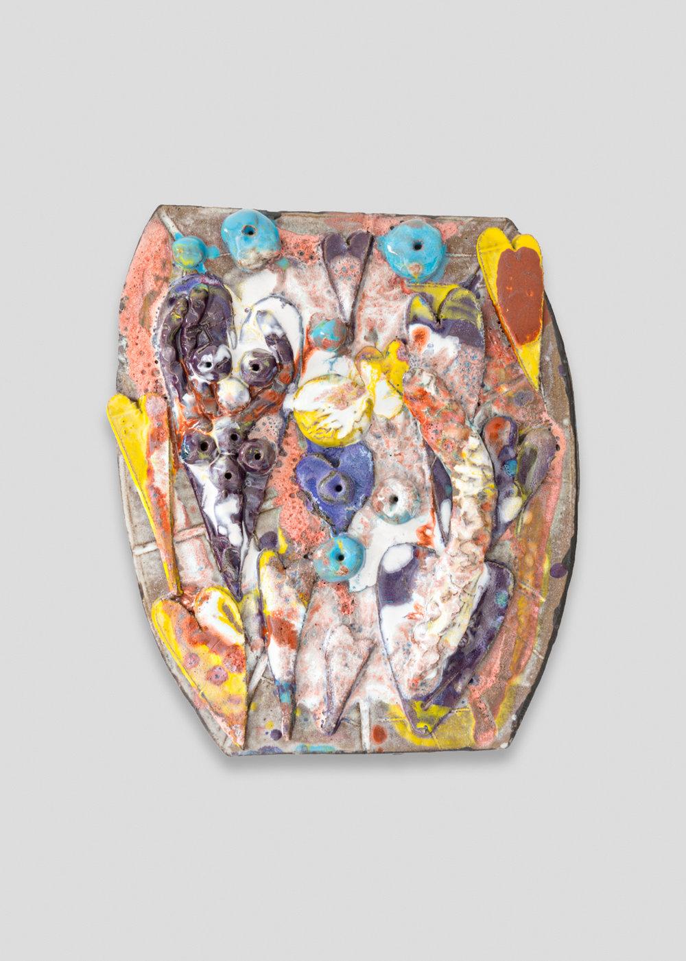 William J.O'Brien  Untitled  2017 Glazed ceramic 17h x 14w x 3d in WOB1232