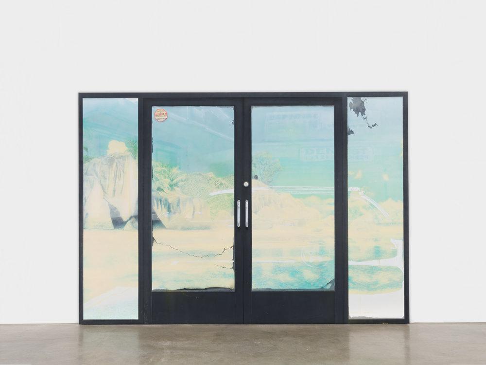 Sayre Gomez  Behind Door #3  2018 Acrylic on canvas 84h x 120w in SGom001