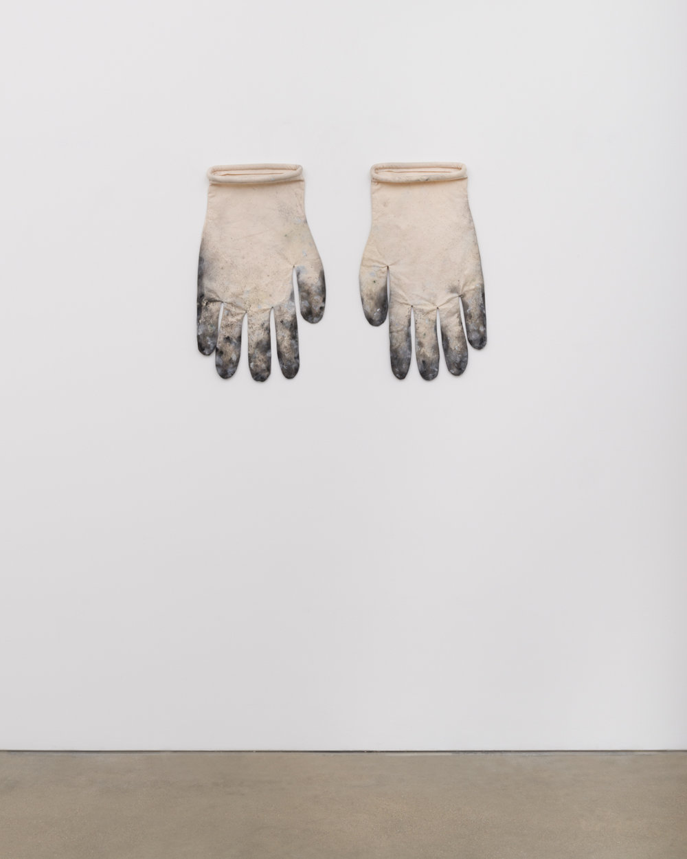 Amanda Ross-Ho  Untitled Prototype #3 (DIRTY GLOVES)  2017 Acrylic on canvas, cotton piping, and thread 24h x 15w in, each ARH147