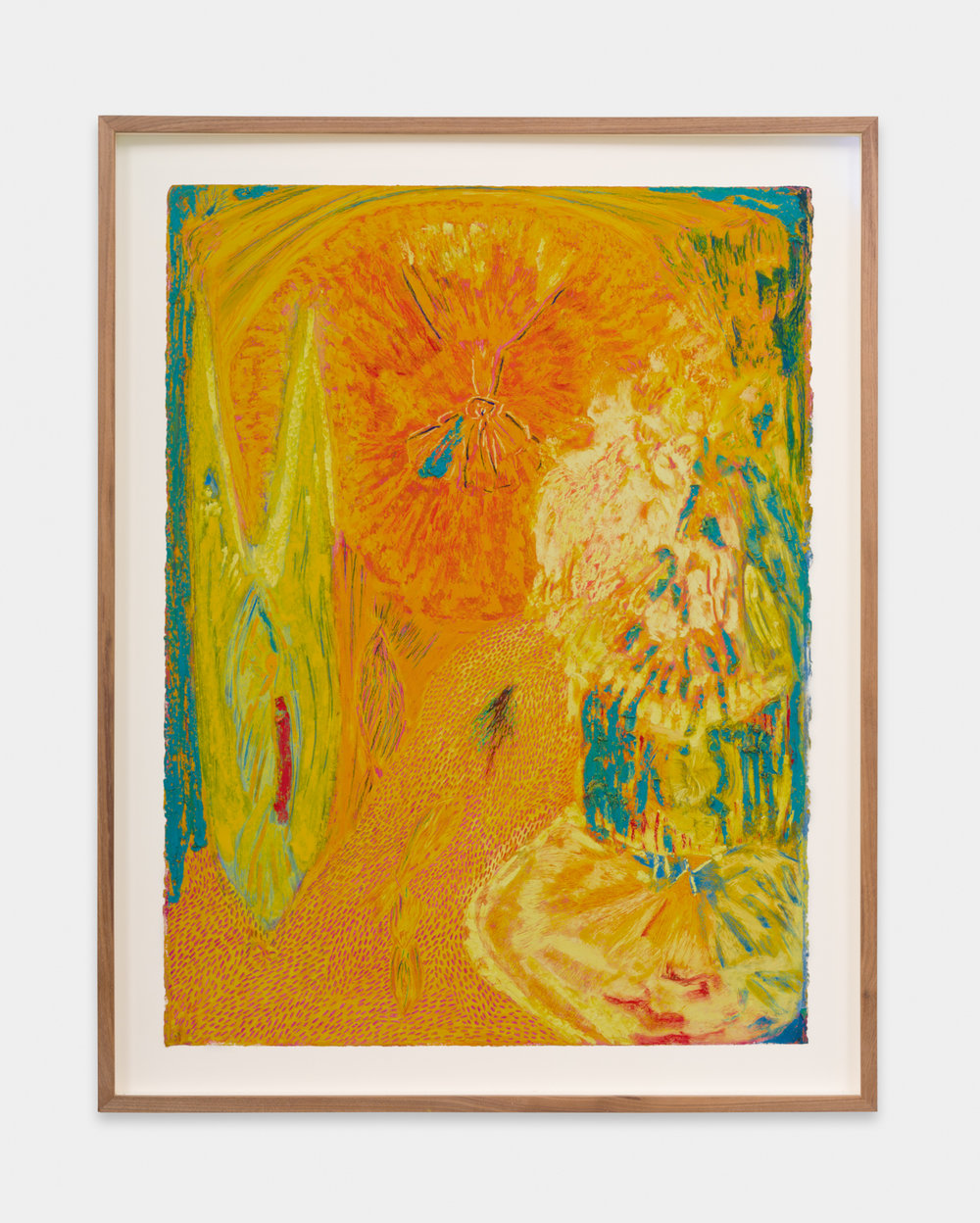 Mimi Lauter  Untitled  2018 Oil pastel and soft pastel on paper 30h x 22 ½w in MLaut084