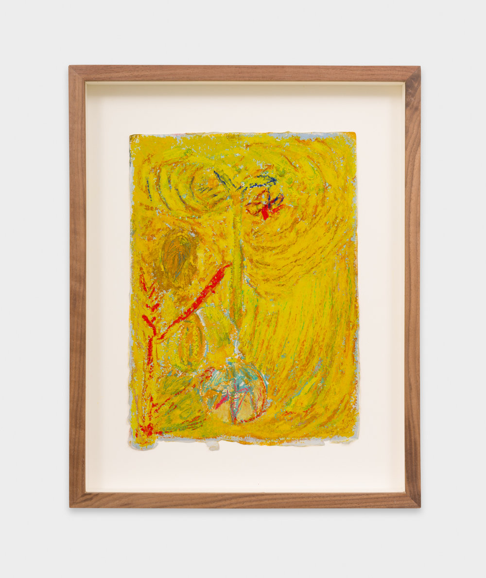 Mimi Lauter  Untitled  2018 Oil pastel and soft pastel on paper 9 ¾h x 6 ¾w in MLaut097