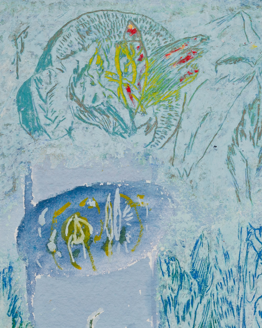 Mimi Lauter  Untitled  (Detail) 2018 Oil pastel and soft pastel on paper 9 ¼h x 7w in MLaut094