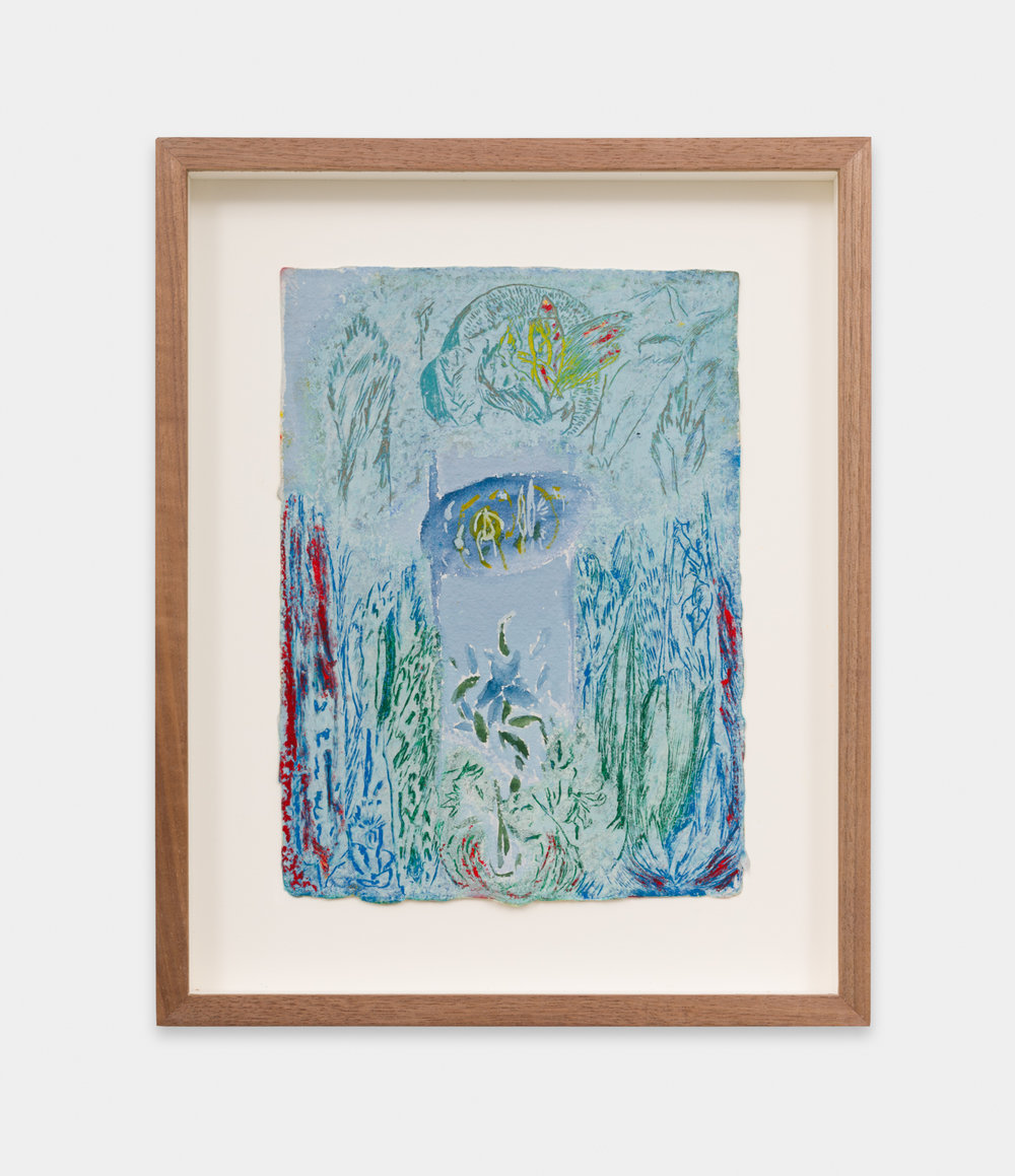 Mimi Lauter  Untitled  2018 Oil pastel and soft pastel on paper 9 ¼h x 7w in MLaut094