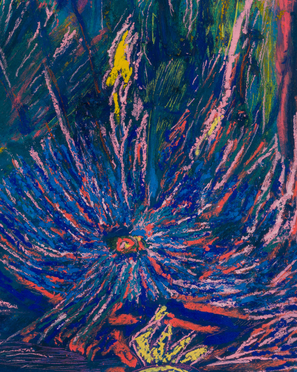 Mimi Lauter  Untitled  (Detail) 2018 Oil pastel and soft pastel on paper 12h x 9w in MLaut093