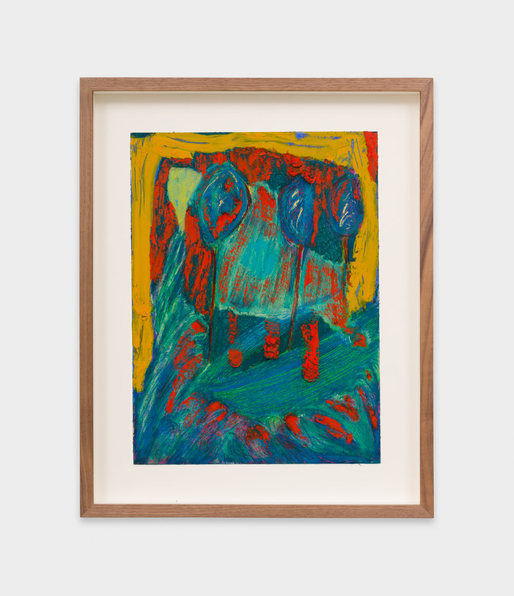 Mimi Lauter  Untitled  2018 Oil pastel and soft pastel on paper 12h x 9w in MLaut092