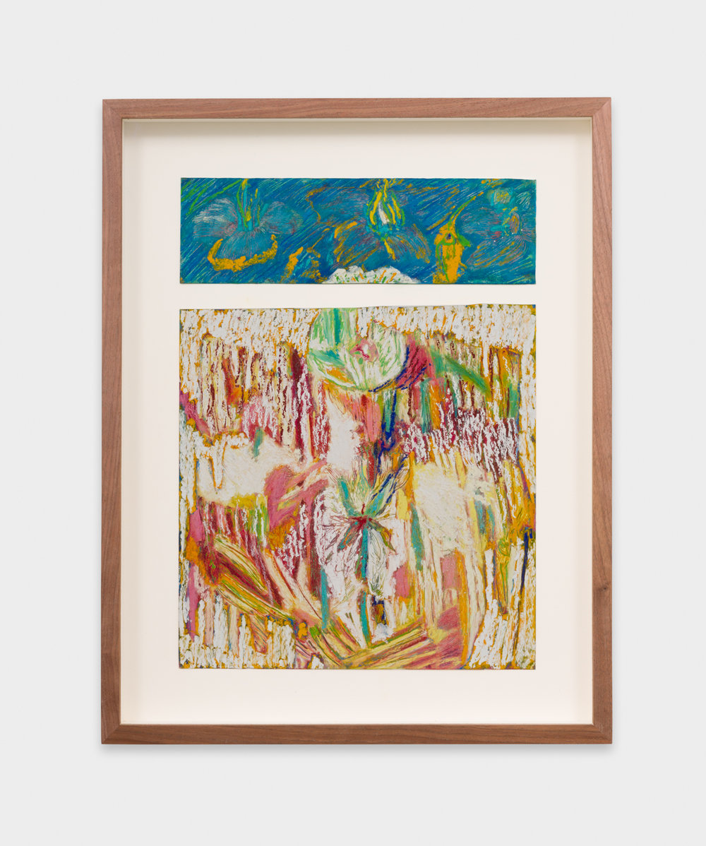 Mimi Lauter  Untitled  2018 Oil pastel and soft pastel on paper 12 ½h x 9w in MLaut091