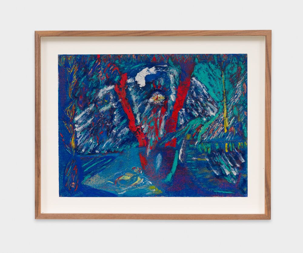 Mimi Lauter  Untitled  2018 Oil pastel and soft pastel on paper 12 ¼h x 16w in MLaut089