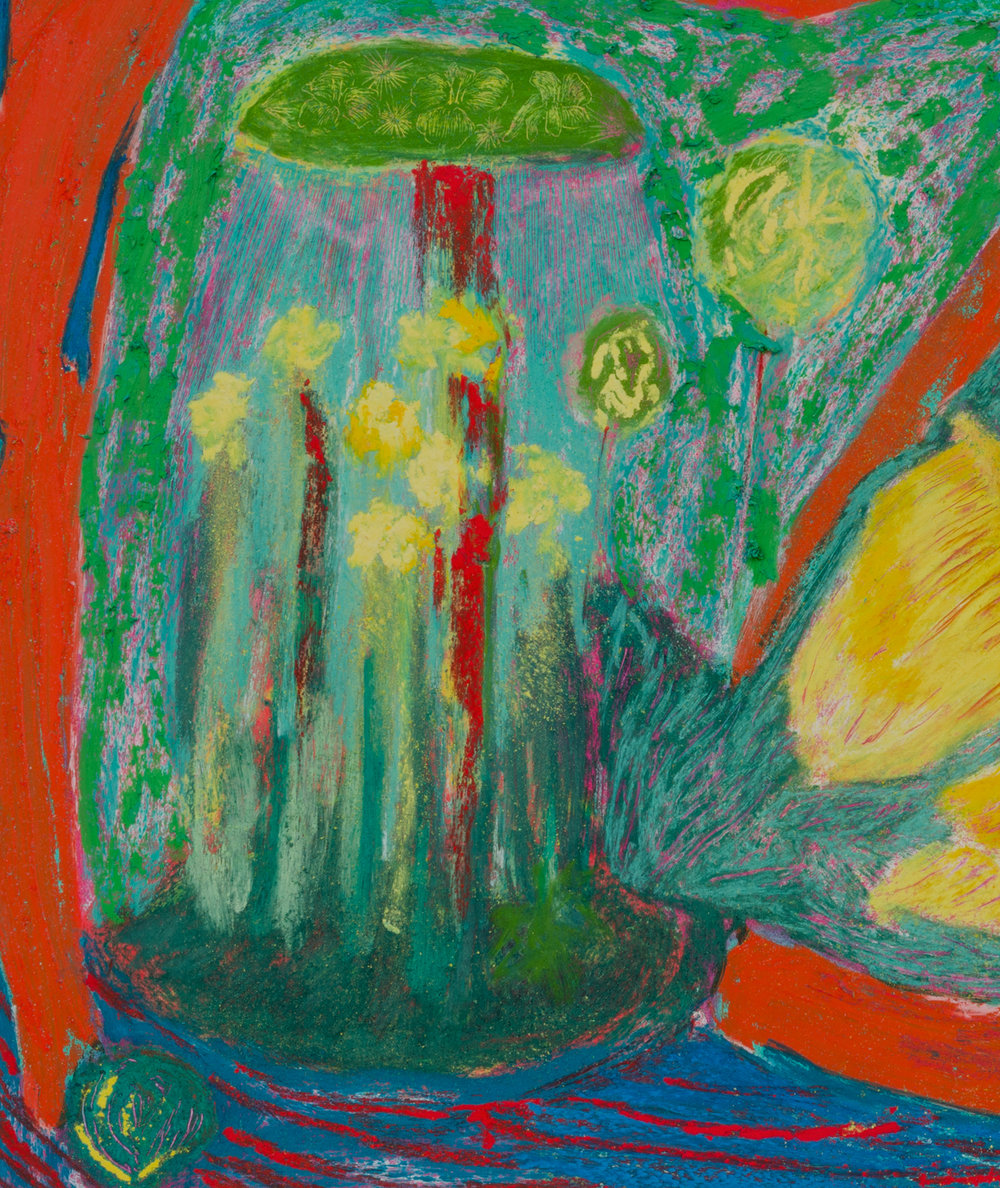 Mimi Lauter  Untitled  (Detail) 2018 Oil pastel and soft pastel on paper 12 ¼h x 16w in MLaut085
