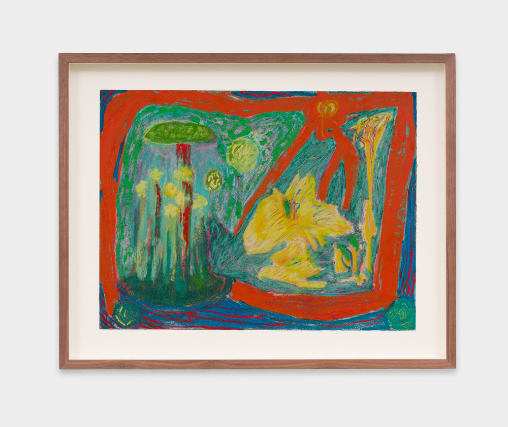 Mimi Lauter  Untitled  2018 Oil pastel and soft pastel on paper 12 ¼h x 16w in MLaut085