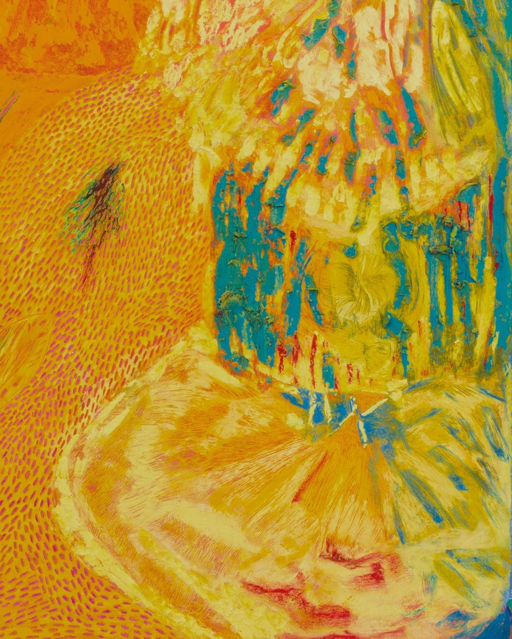 Mimi Lauter  Untitled  (Detail) 2018 Oil pastel and soft pastel on paper 30h x 22 ½w in MLaut084