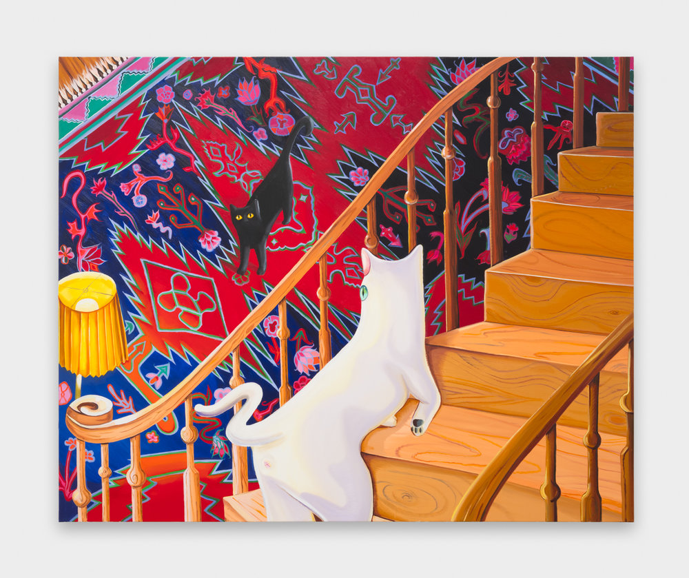 Nikki Maloof  The Staircase  2018 Oil on canvas 68h x 74w in NM031