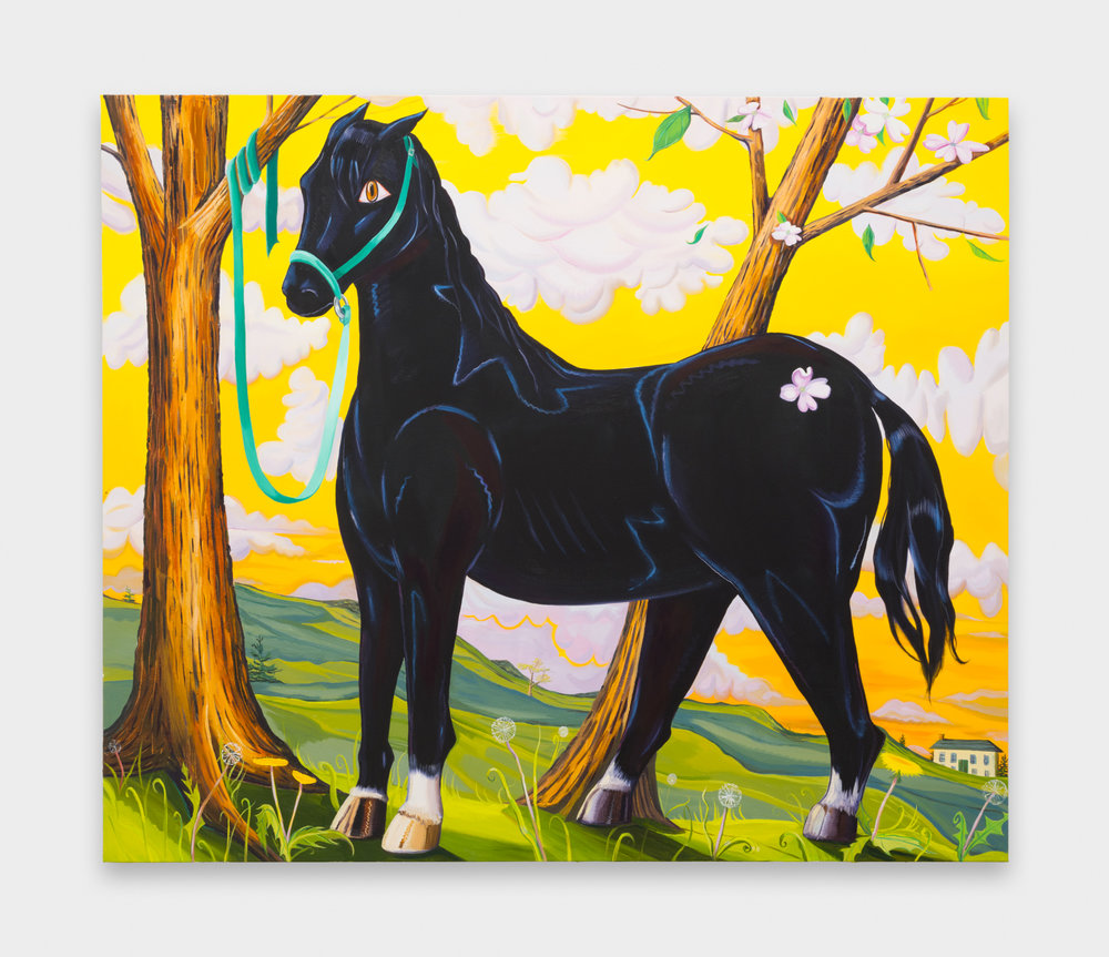 Nikki Maloof  Horse at Dusk  2018 Oil on canvas 66h x 78w in NM032