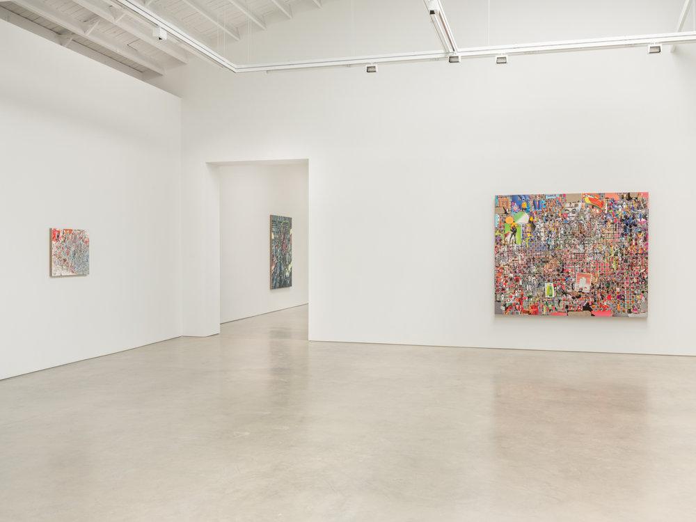 Elliott Hundley  Eighteen Seconds  2018 Installation view Shane Campbell Gallery, South Loop