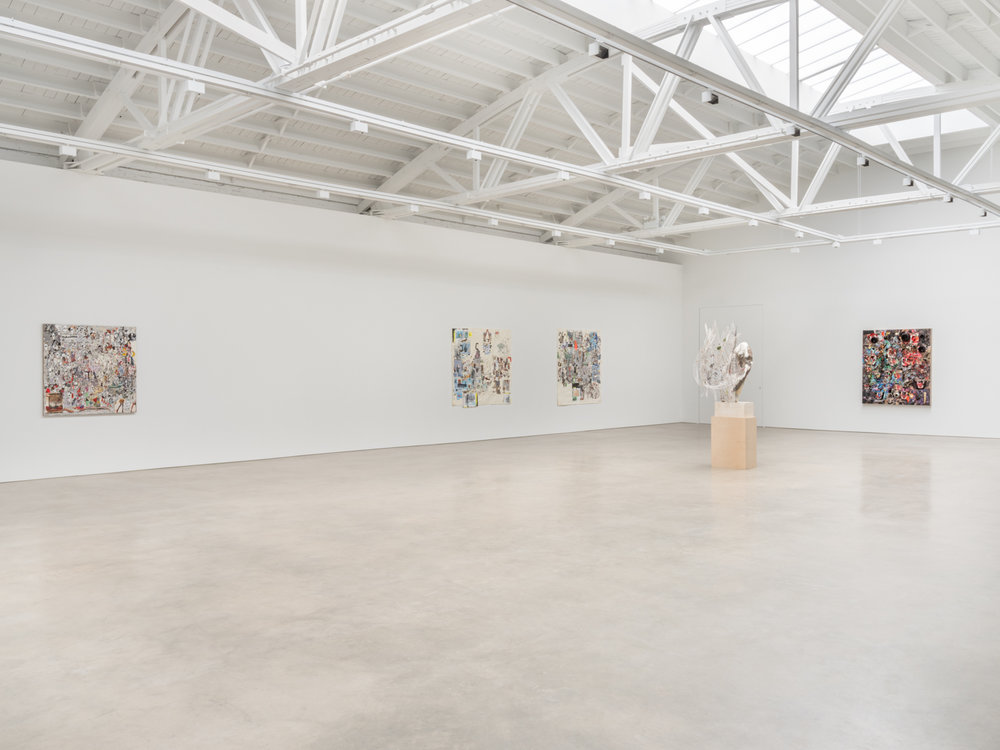 Elliott Hundley  Eighteen Seconds  2018 Installation view Shane Campbell Gallery, South Loop