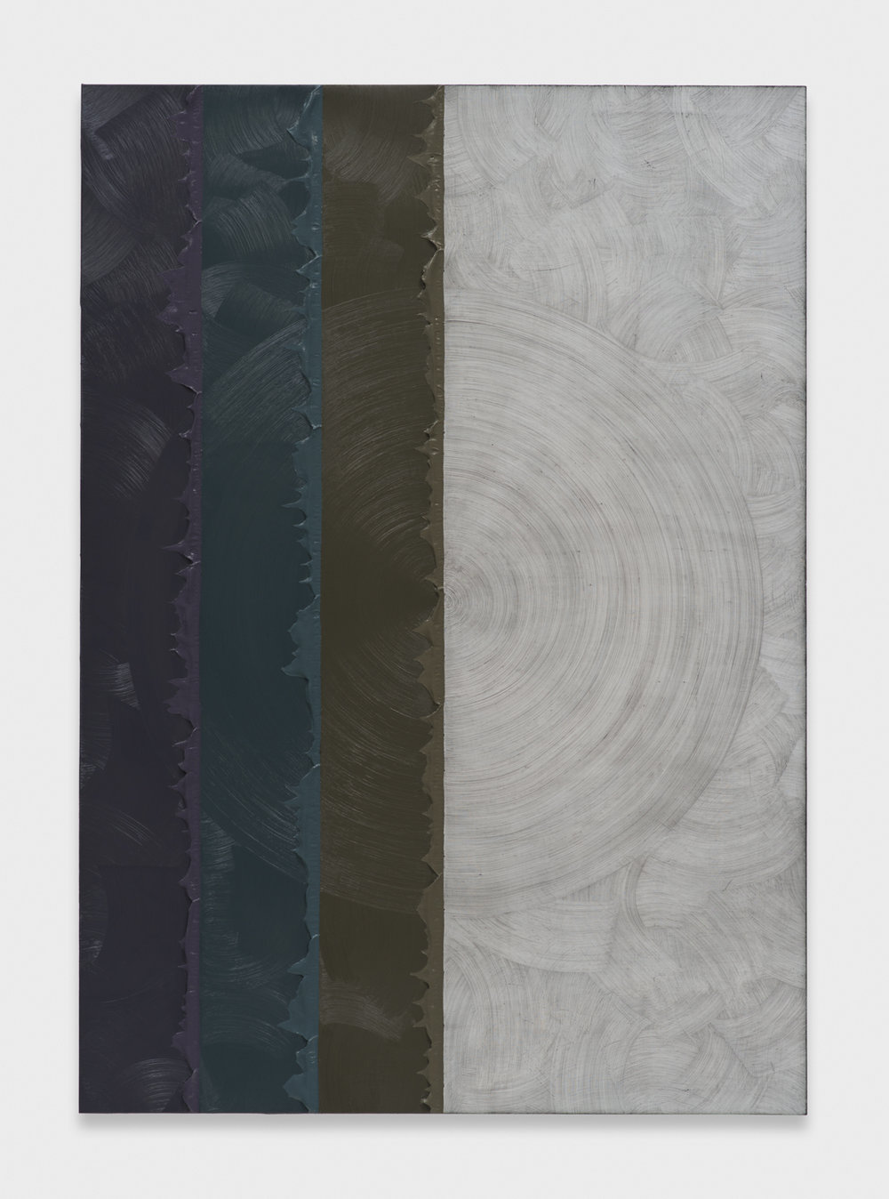 Alex Olson  Cloak  2014 Oil and modeling paste on linen 61h x 43w in AO158