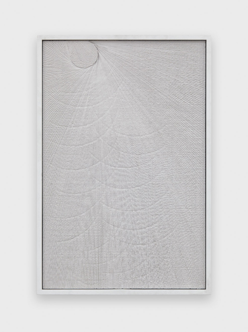 Anthony Pearson  Untitled (Etched Plaster)  2015 Pigmented hydrocal in lacquer painted walnut frame 30 ½h x 20 ½w x 2 ¼d in AP370
