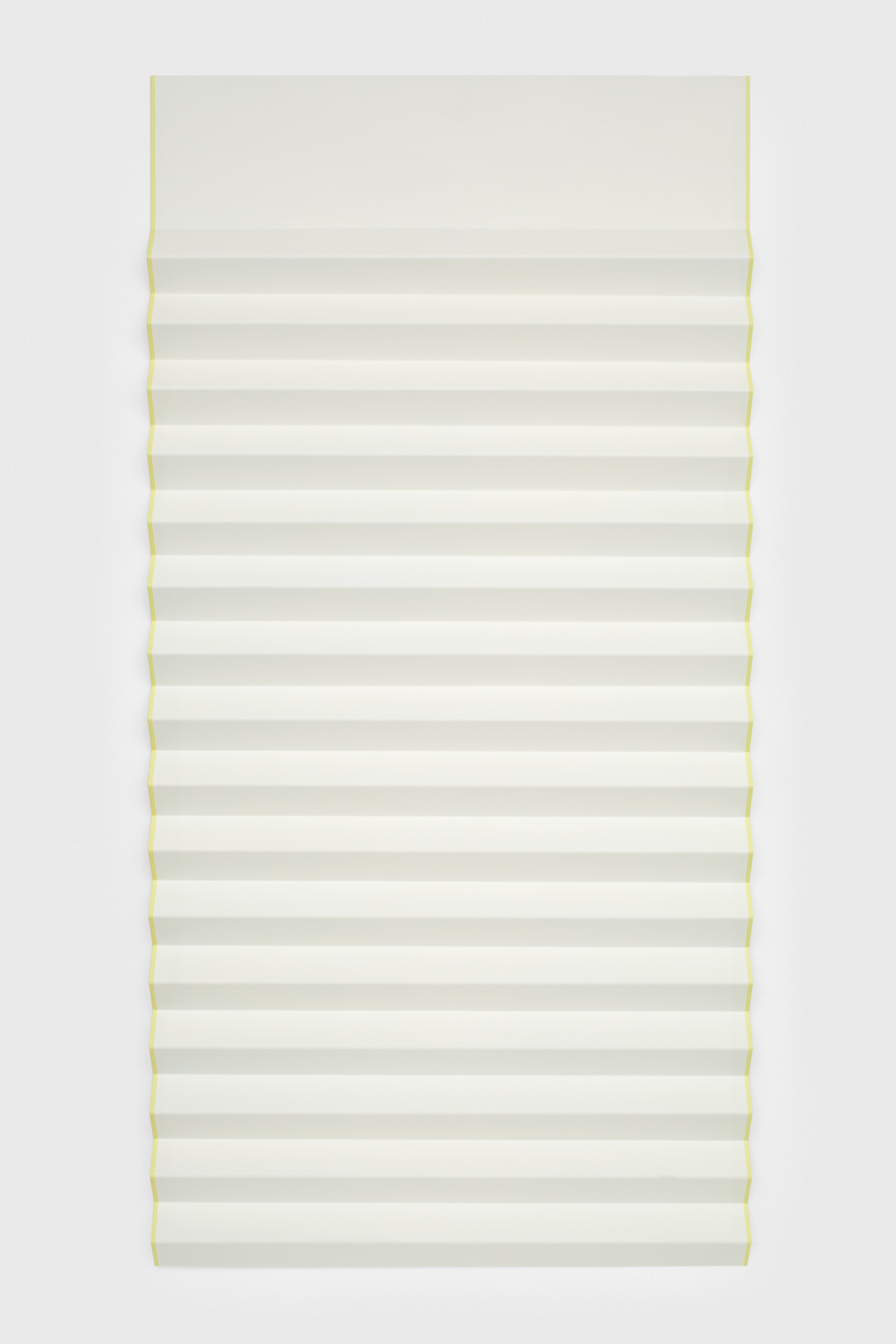Lisa Williamson  Bed Shade, Glowing Edges  2012 Acrylic and graphite transfer on powder-coated aluminum 72h x 36w x 2d LW110