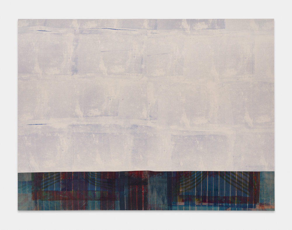 JoseribertoPerez  Green When Wet  2018 Silkscreen acrylic and dye transfer on sewn and dyed canvas and muslin 72h x 96w in JoseP002