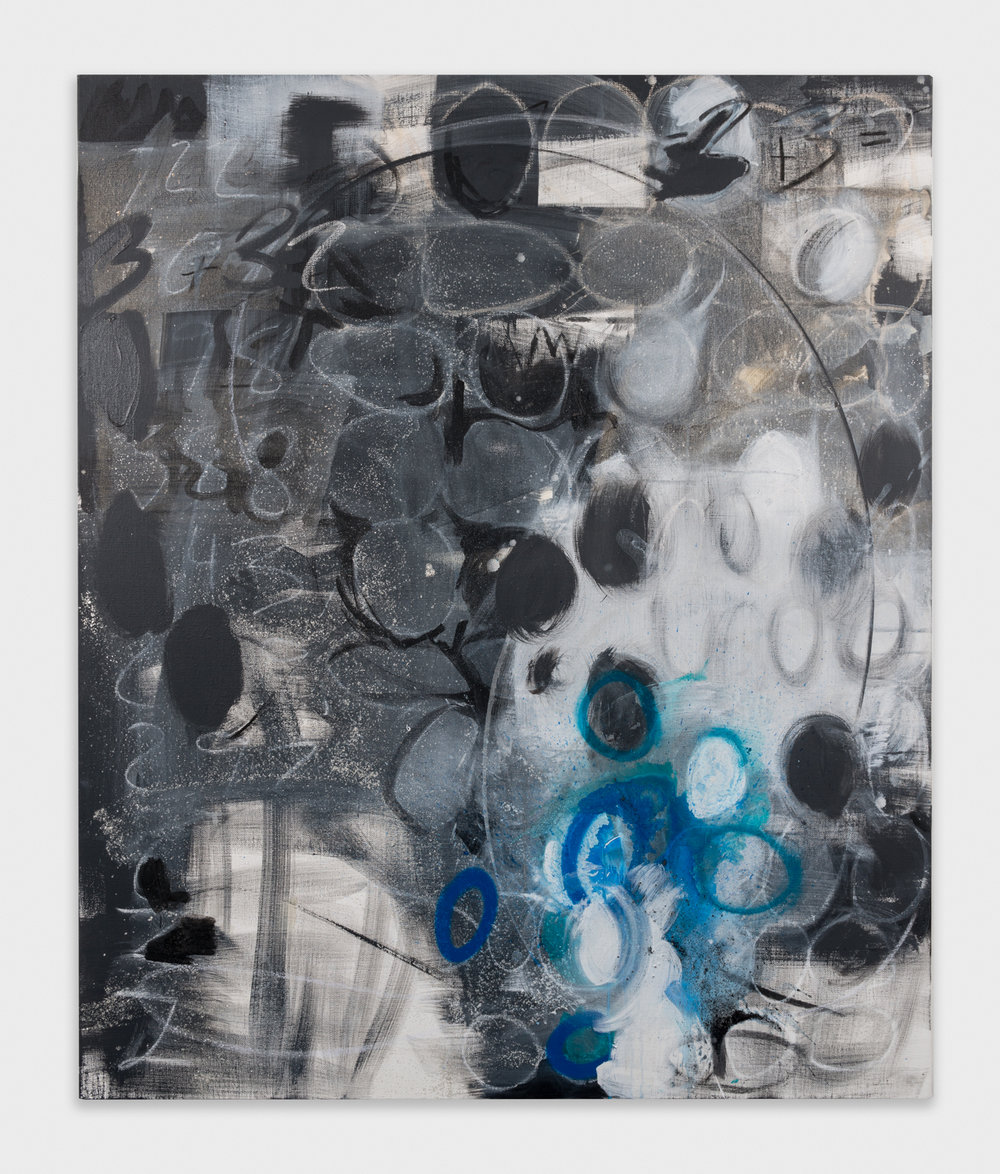 Suzanne McClelland  2  2013 Charcoal, acrylic, and oil on linen 59h x 49w in SM201