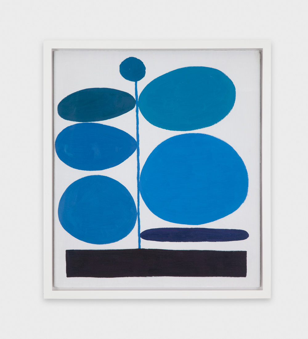 Jonas Wood  Untitled (Blue on White)  2010 Oil on treated cardboard 16 ¼h x 14 ¼w in JW087