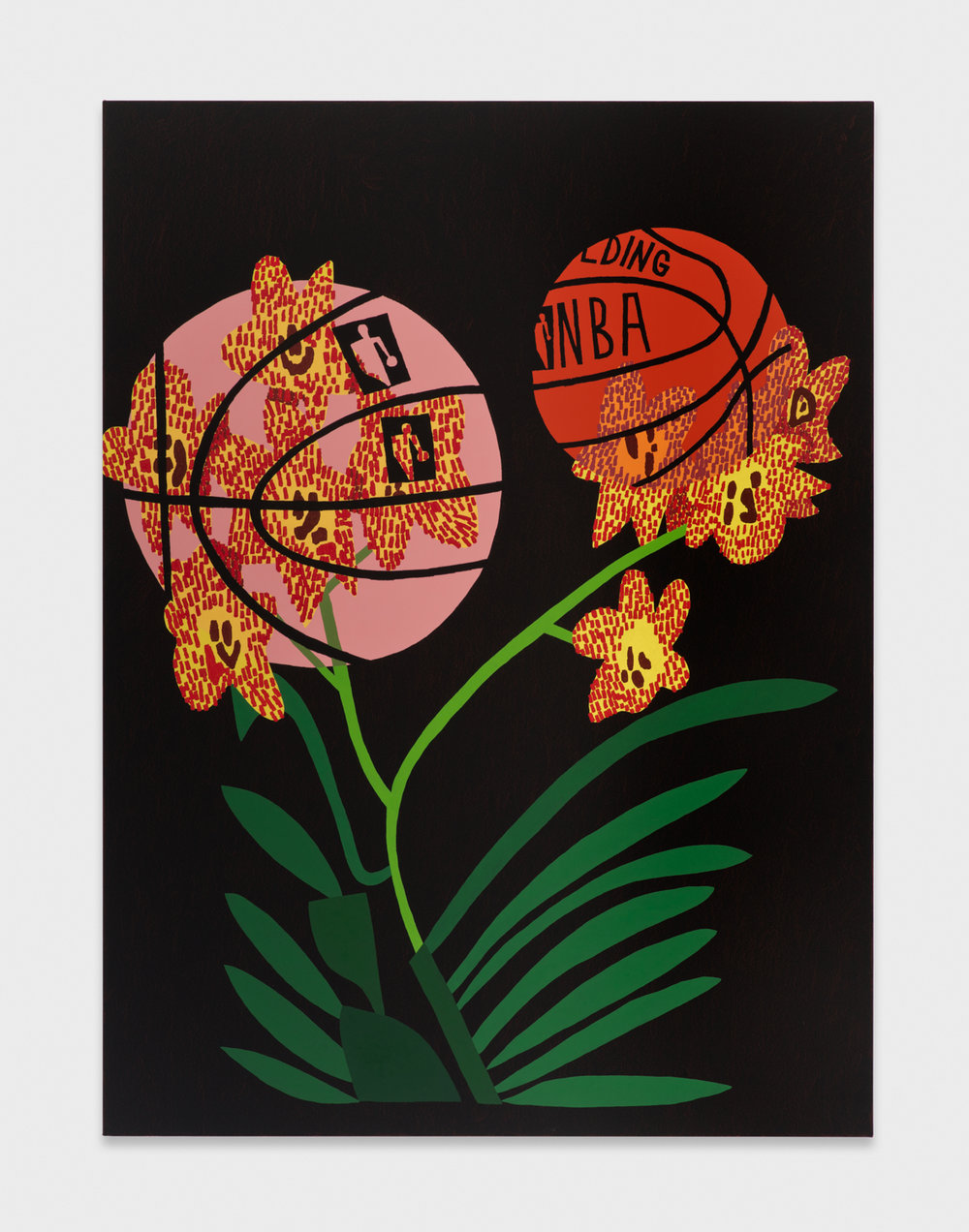 Jonas Wood  Collaboration Appropriation 6  2015 Oil and acrylic on canvas 78h x 58w in JW206