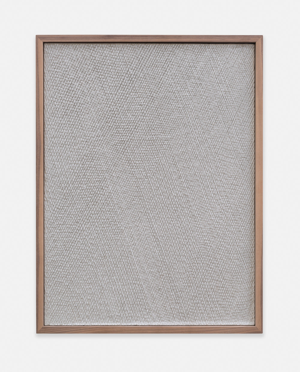 Anthony Pearson  Untitled (Etched Plaster)  2014 Pigmented hydrocal in walnut frame 24 ½h 18 ½w x 2 ¼d in AP365