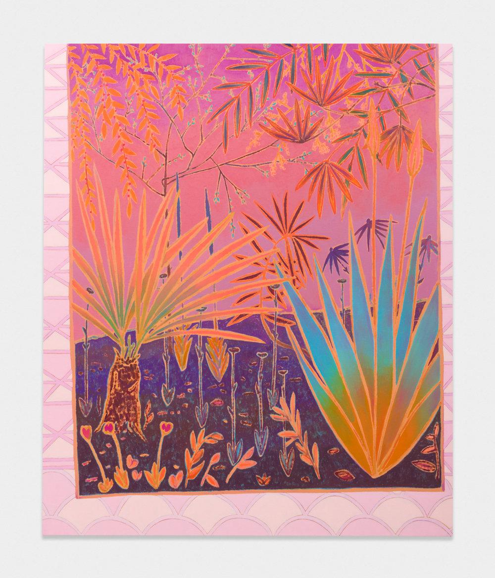 John McAllister  slumbers honeyed flourishing  2017 Oil on canvas 65h x 54w in JMC025