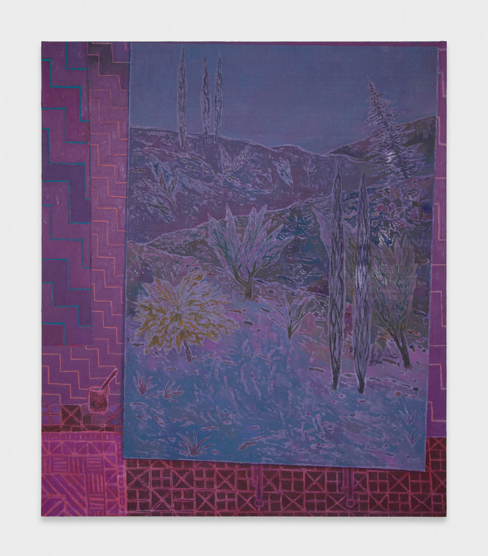 John McAllister  Moon Had Drifted Through  2012 Oil on canvas 55w x 47h in JMC009