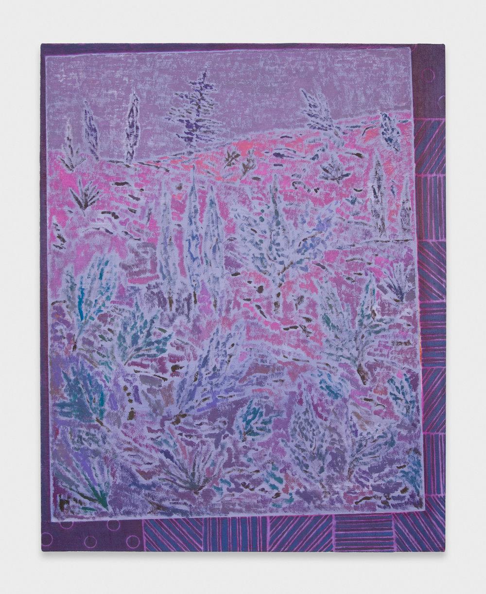 John McAllister  Rustling Clatter-Calm  2012 Oil on canvas 31h x 25w in JMC007