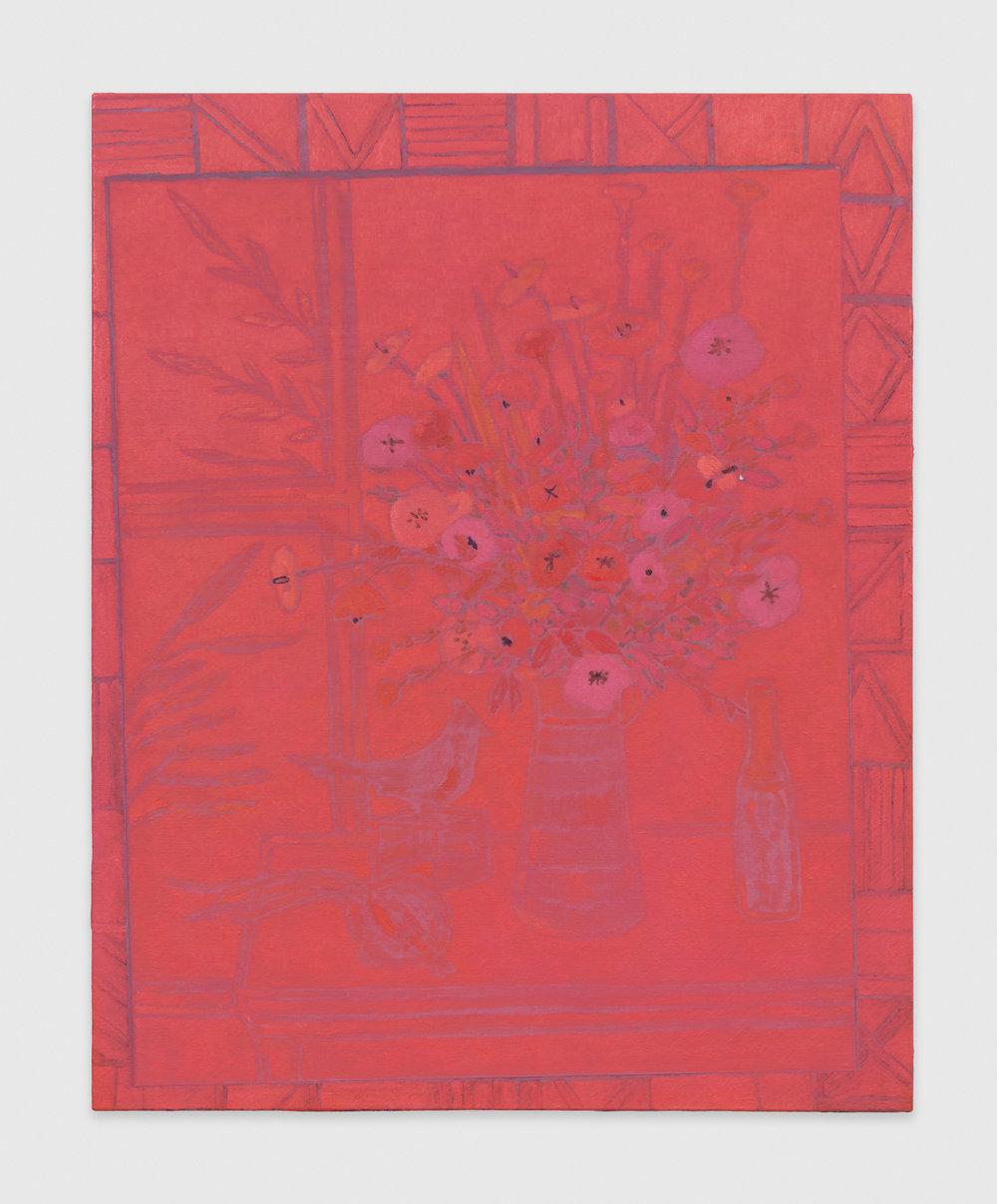 John McAllister  might mingle lusterlike  2014 Oil on canvas 31h x 25w in JMC013