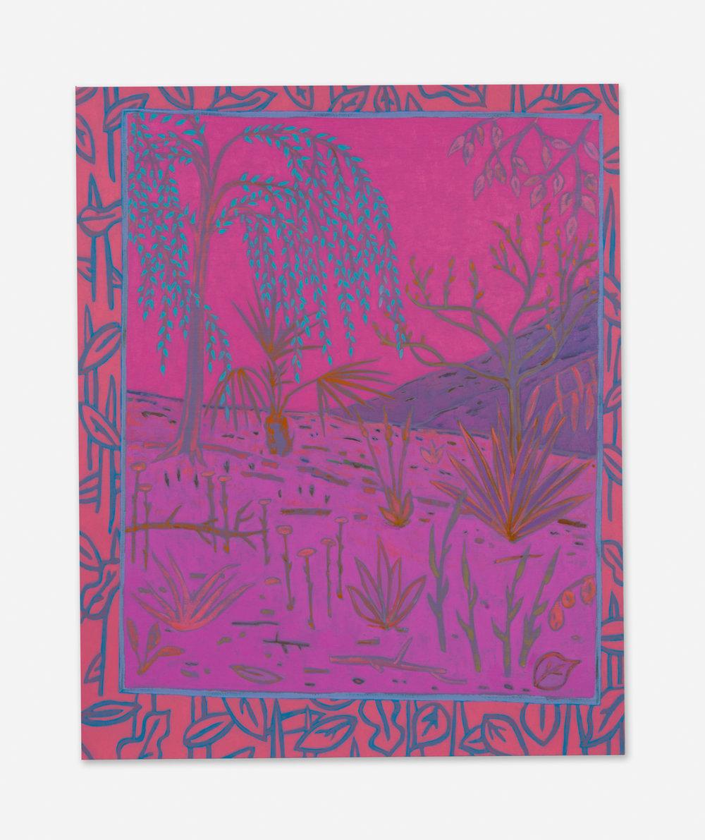 John McAllister  melody strikes murmur  2015 Oil on canvas 47h x 38w in JMC015