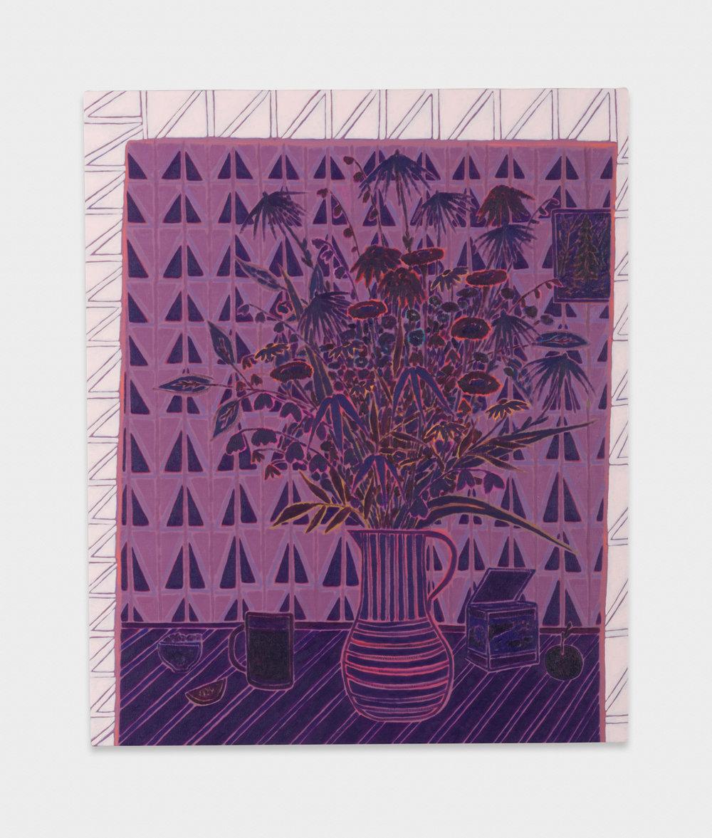 John McAllister  sight sounds serene  2017 Oil on canvas 35h x 29w in JMC019