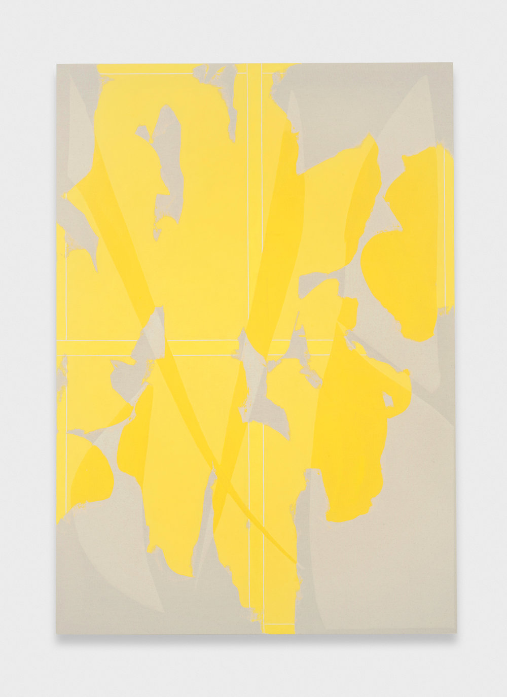 Zak Prekop  Yellow Transparency  2011 Oil and paper on canvas 60h x 42w in ZP142