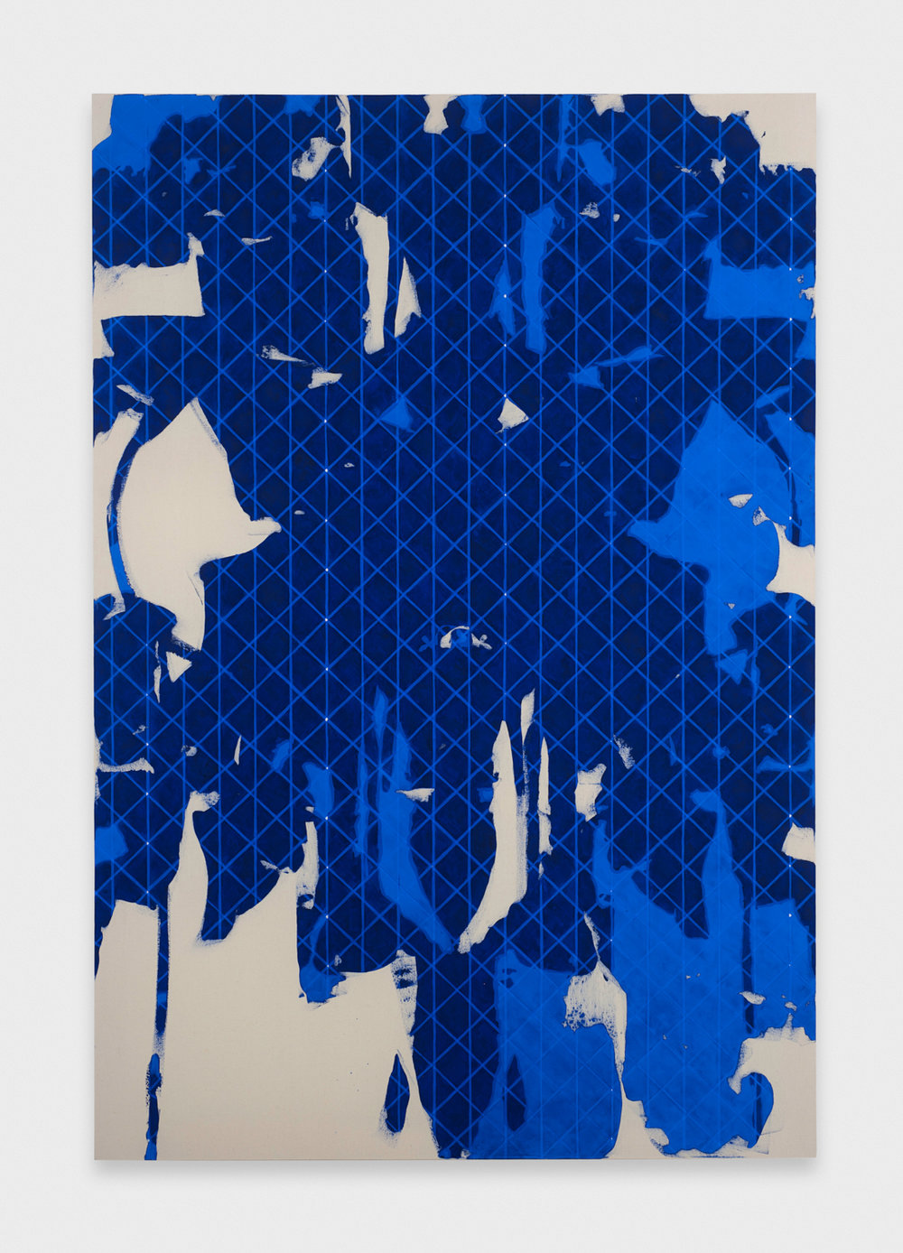 Zak Prekop  Untitled (Blue)  2011 Oil on canvas 84h x 57w in ZP139