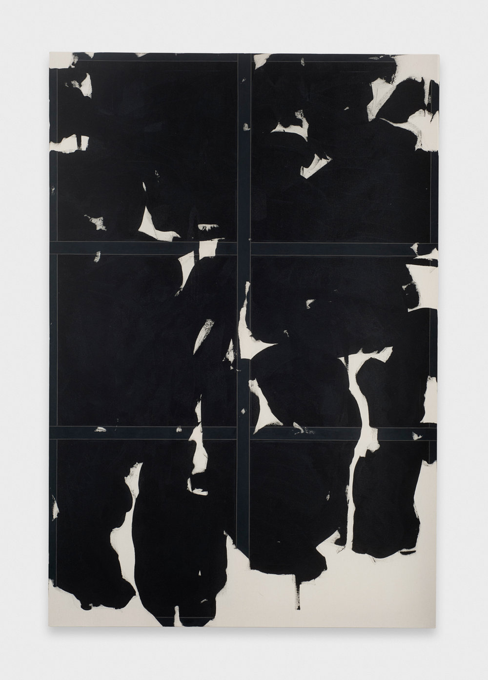 Zak Prekop  Untitled (Black)  2011 Oil on canvas 84h x 57w in ZP140