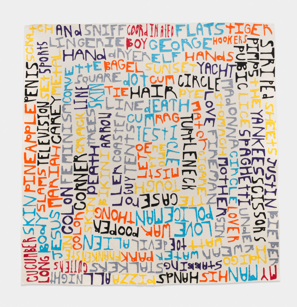 William J. O'Brien  Untitled  2014 Felt on felt 71h x 71w in WOB985
