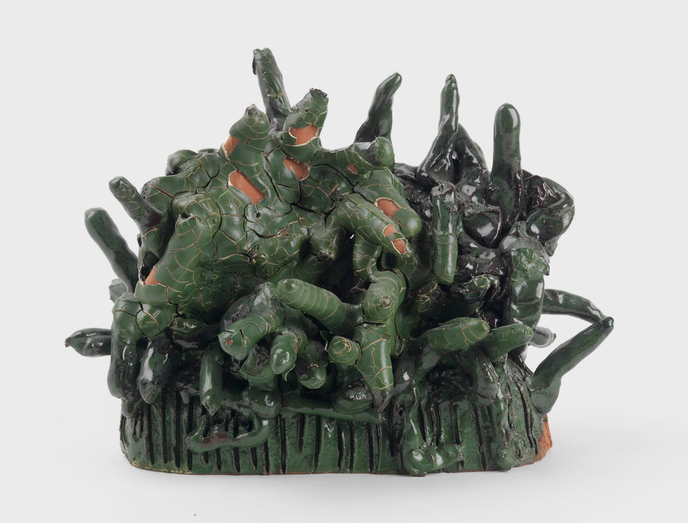 William J. O'Brien  Untitled  2011 Glazed ceramic 10 ¼h x 13 ¾w x 6 ½d in WOB859