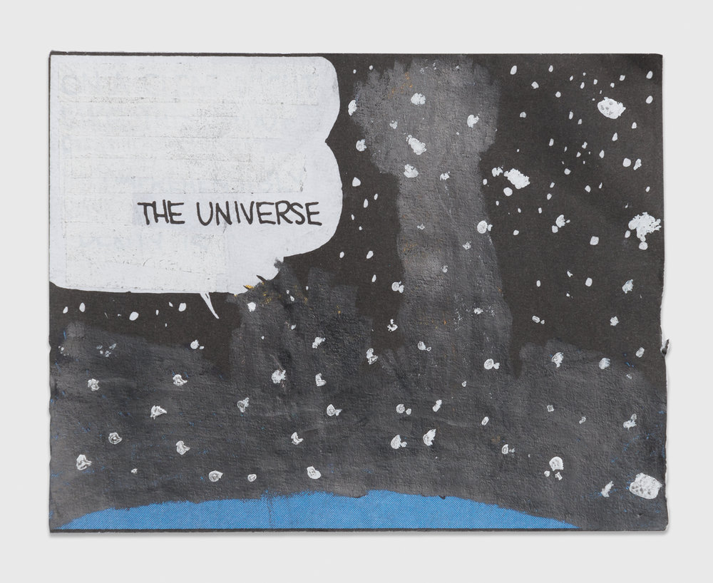 Tony Lewis  Untitled (The Universe)  2014 Pencil and graphite powder on paper 2 ½h x 3w in TL214