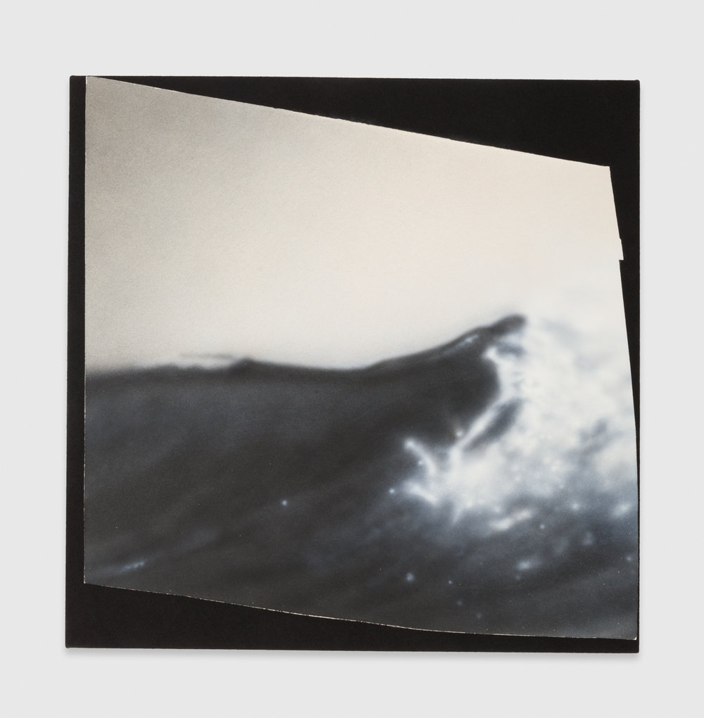 Kim Fisher  Magazine Painting (Wave)  2017 Oil on dyed linen on panel 38h x 38w in KF038