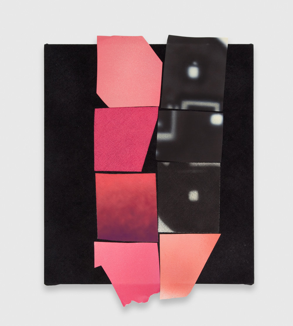 Kim Fisher  Collage Painting (Color Block I)  2012 Oil and aluminum on dyed linen 23h x 18w in KF011