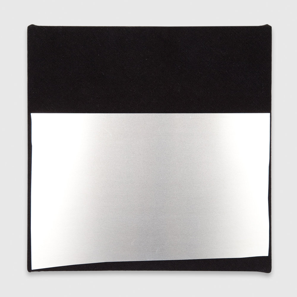 Kim Fisher  Aluminum, No. 4  2012 Aluminum on dyed linen 14h x 14w KF010