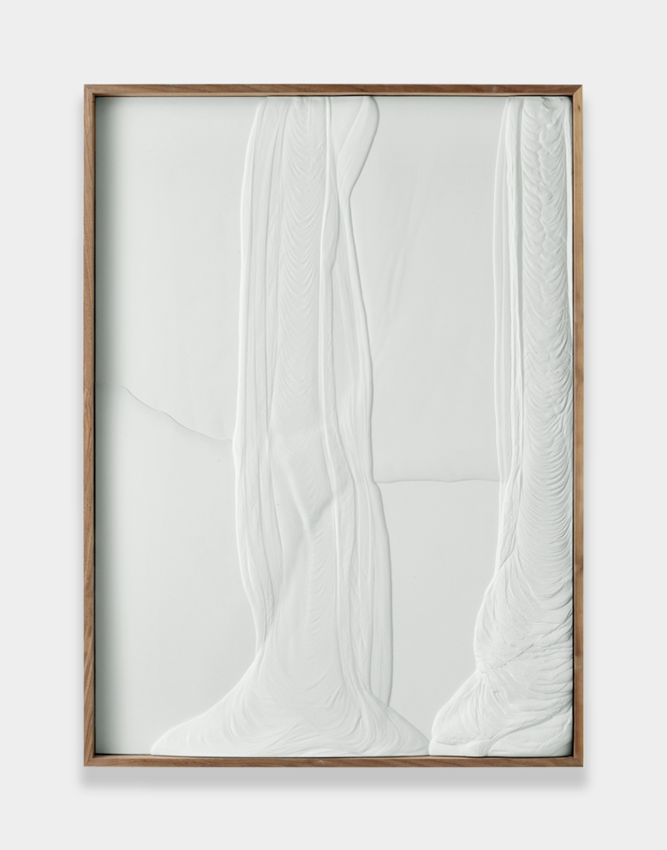 Anthony Pearson  Untitled (Plaster Positive)  2013 Hydrocal in walnut frame 59 ¾h x 43 ¾w x 3 ½d in AP324