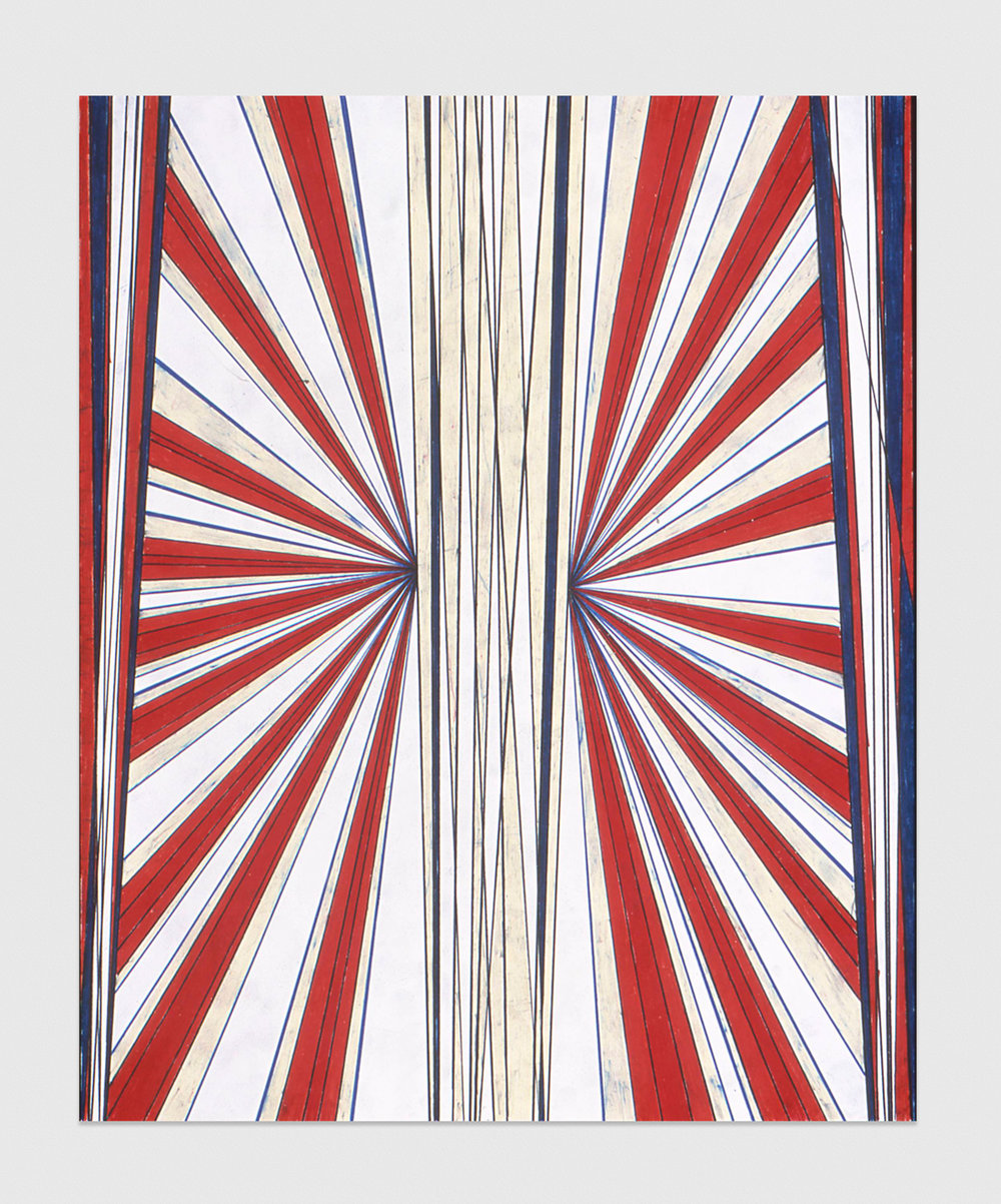 Mark Grotjahn  Untitled  2002 Color pencil on paper 23h x 19w in
