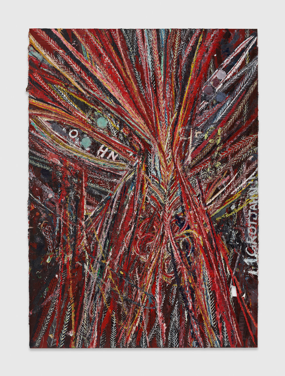 Mark Grotjahn  Untitled (S II Some of us didn't know we were Indian, Painting for RH, Face 41.72)  2011 Oil on cardboard mounted on linen 101 ¼h x 72 ¼w in MG41.72