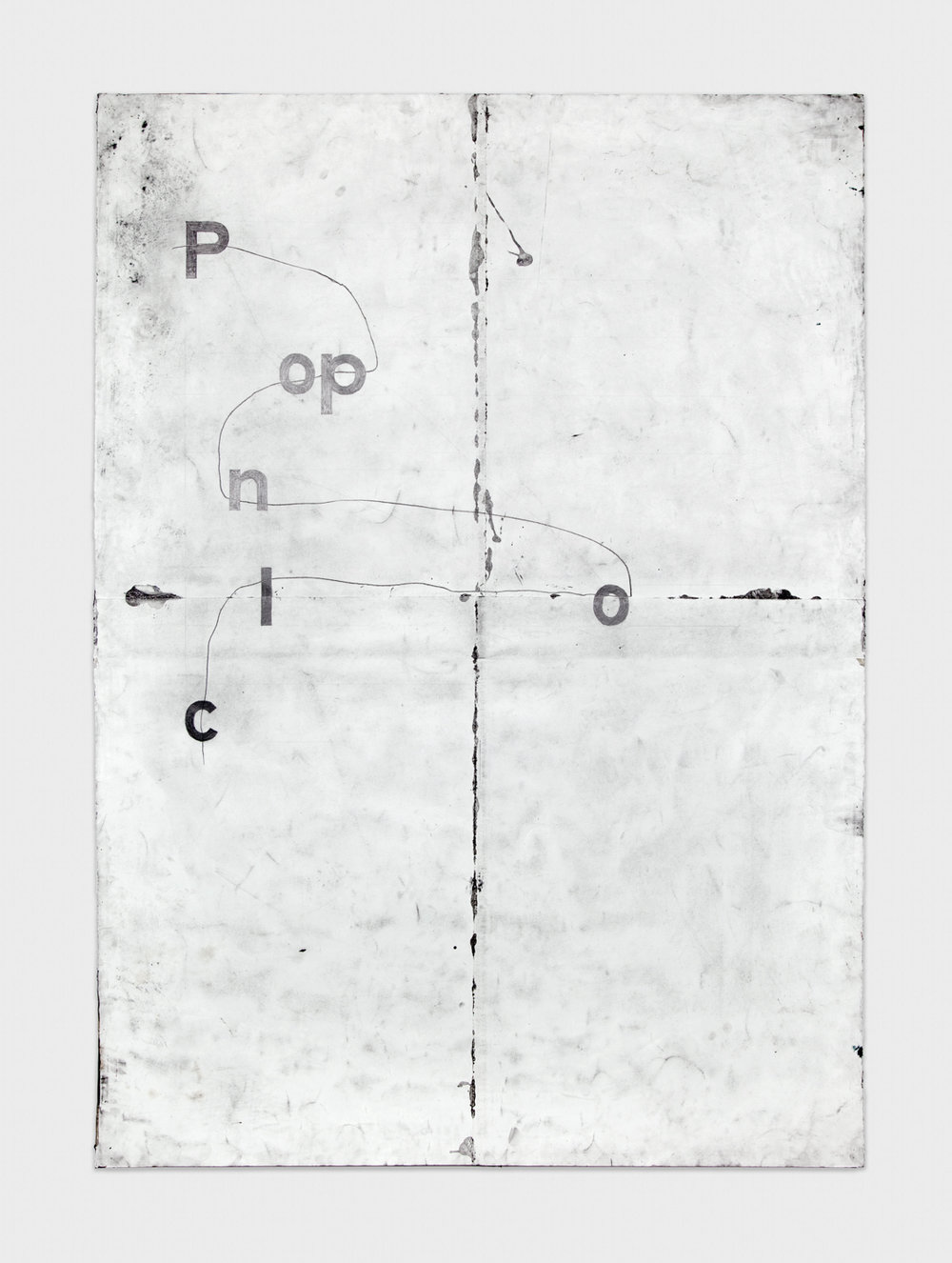 Tony Lewis  clon opP  2011 Pencil and graphite powder on paper 84h x 60w in TL006