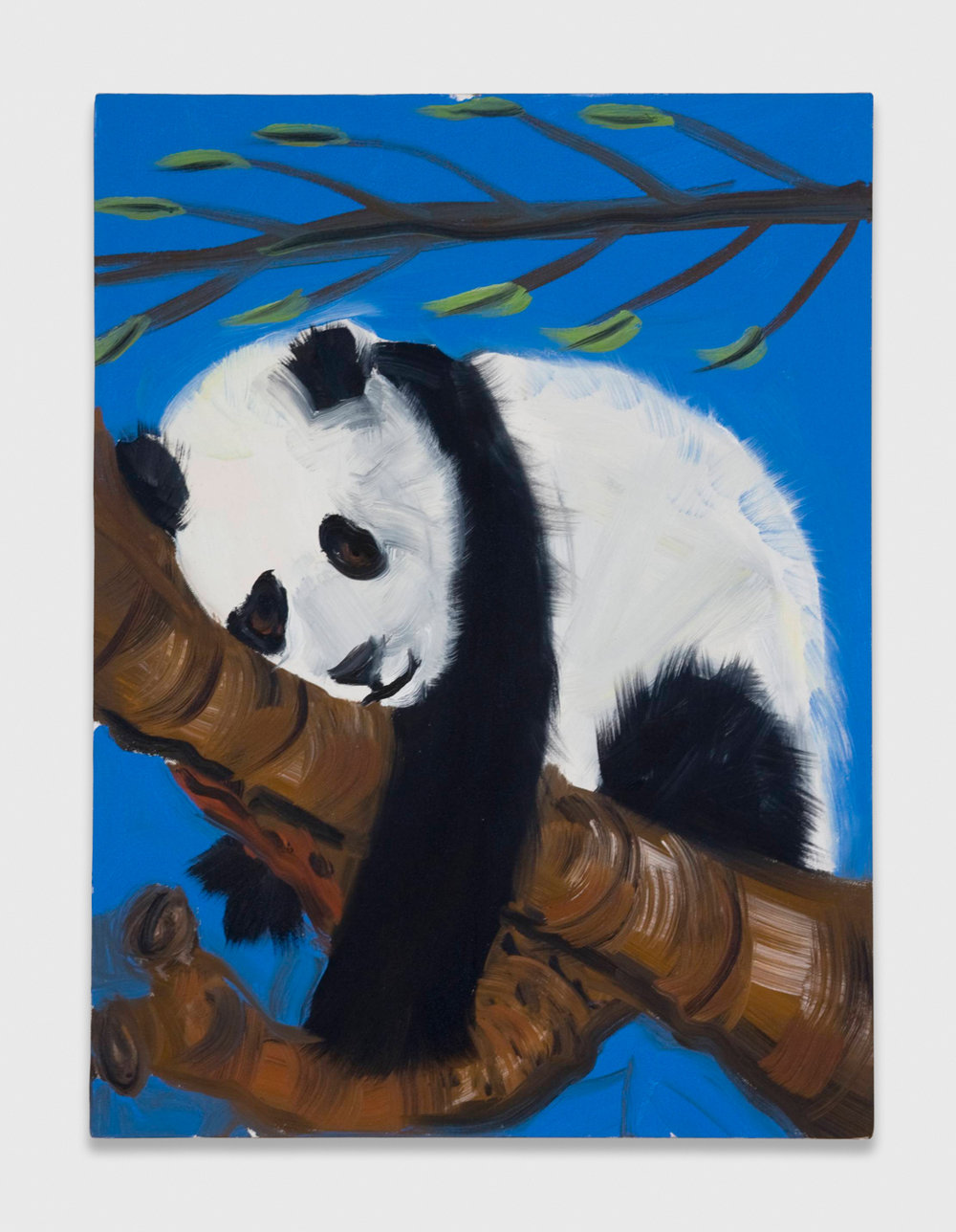 Ann Craven  Panda Again Again  2008 Oil on canvas 24h x 18w in AC036