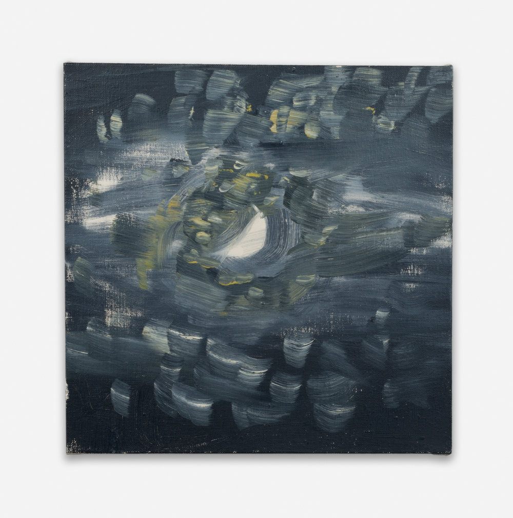 Ann Craven  Moon (Guilford, 8-25-12, 9:30PM), 2012  2012 Oil on linen 14h x 14w in AC125
